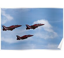 Three of the nine Red Arrows Poster