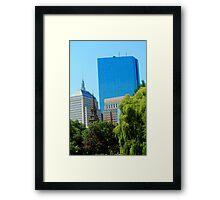 Boston Cityscape Framed Print