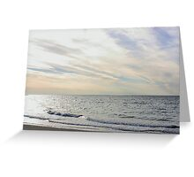 Late afternoon at the beach Greeting Card