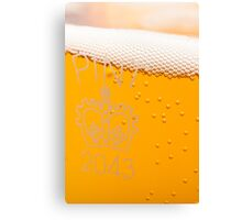 Pint of beer in glass Canvas Print