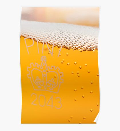 Pint of beer in glass Poster