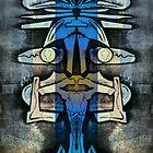 Soaring Down, Upside-Down Art, Masg Art By L. R. Emerson II by L R Emerson II