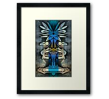 Soaring Down, Upside-Down Art, Masg Art By L. R. Emerson II Framed Print