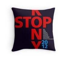 STOP KONY.2 2012 Throw Pillow