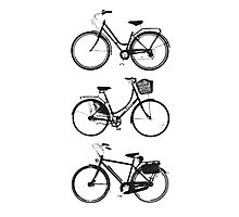 Three Bicycles Photographic Print
