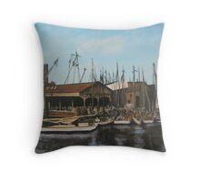 Old Dominion Steamship, Norfolk, VA 1910 Throw Pillow