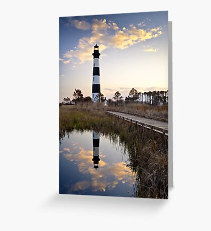 Bodie Island Lighthouse - Cape Hatteras Outer Banks NC Greeting Card