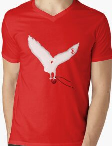 Berserk White Eagle Mens V-Neck T-Shirt