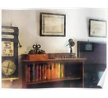 Eye Doctor's Office With Diploma Poster