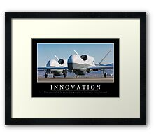 Innovation: Inspirational Quote and Motivational Poster Framed Print