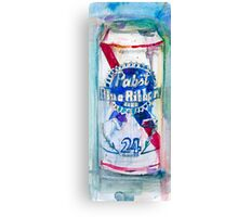 Pabst Blue Ribbon Beer Can Canvas Print