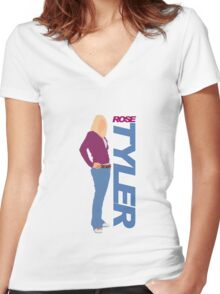 TYLER. Rose TYLER Women's Fitted V-Neck T-Shirt