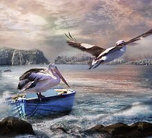 Last Flight Of The Day by Trudi's Images