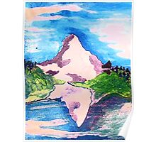 Matterhorn, watercolor Poster