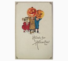 Kids With Decorations (Vintage Halloween Card) by Welte Arts & Trumpery
