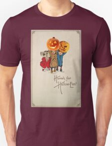 Kids With Decorations (Vintage Halloween Card) Unisex T-Shirt