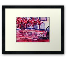A canal in Venice, watercolor Framed Print