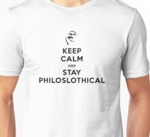 Keep Calm and Stay Philoslothical (Black design) Unisex T-Shirt