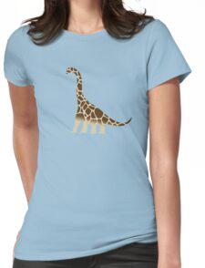 Brachiosaurus Giraffe Womens Fitted T-Shirt