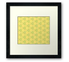 Abstract  pattern over yellow background Framed Print