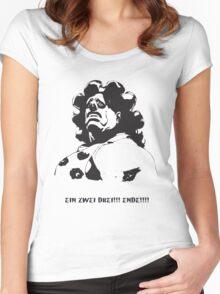 Hugo - EIN ZWEI DREI!!! ENDE! Women's Fitted Scoop T-Shirt