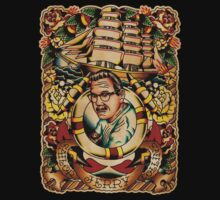 "Old Timers - Norman Collins ""Sailor Jerry"" Kids Clothes"