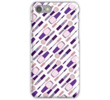 Pretty Pink and Purple Makeup Set iPhone Case/Skin