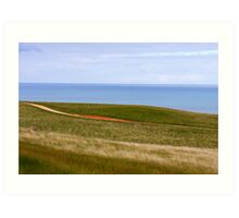 Bells Beach Hills Art Print
