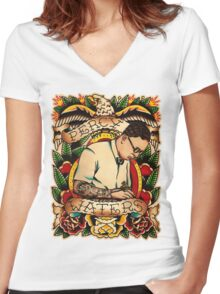 Old Timers - Percy Waters Women's Fitted V-Neck T-Shirt