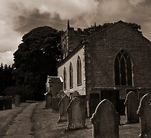 Old church and its graveyard, Derbyshire by Magdalena Warmuz-Dent