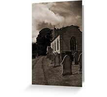 Old church and its graveyard, Derbyshire Greeting Card