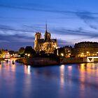 Notre Dame Paris at dusk by sloweater