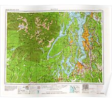 USGS Topo Map Washington State WA Seattle 243644 1962 250000 Poster