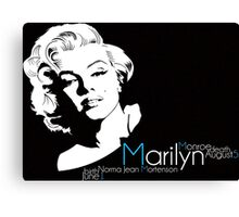 Marilyn Monroe birth and death Canvas Print