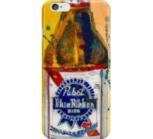 Pabst Blue Ribbon Beer Bottle iPhone Case/Skin
