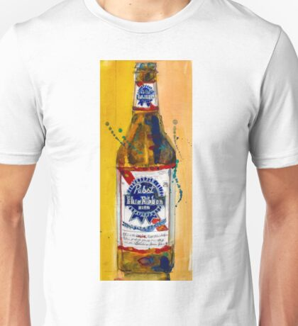 Pabst Blue Ribbon Beer Bottle Unisex T-Shirt