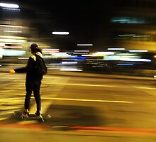 The Skateboarder ( Blurred Series) by Sherion