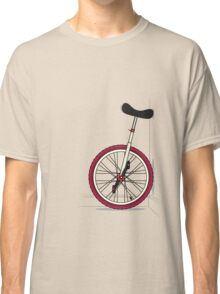 Unicycle By Wall Classic T-Shirt