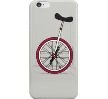 Unicycle By Wall iPhone Case/Skin