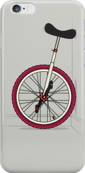 Unicycle By Wall by Andy Scullion