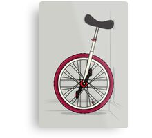 Unicycle By Wall Metal Print