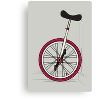 Unicycle By Wall Canvas Print