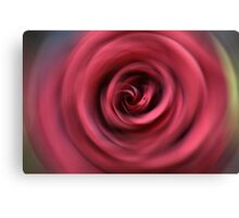 Red rose radial blur background Canvas Print