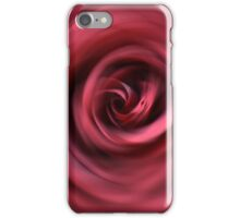 Red rose radial blur background iPhone Case/Skin