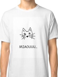 Cute hand drawn cat Classic T-Shirt
