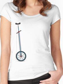 Very Tall Unicycle Women's Fitted Scoop T-Shirt