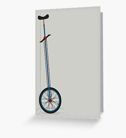 Very Tall Unicycle Greeting Card