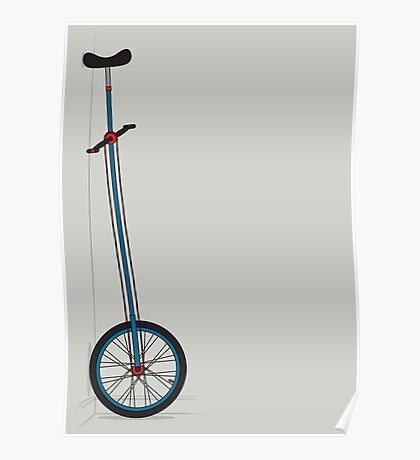 Very Tall Unicycle Poster