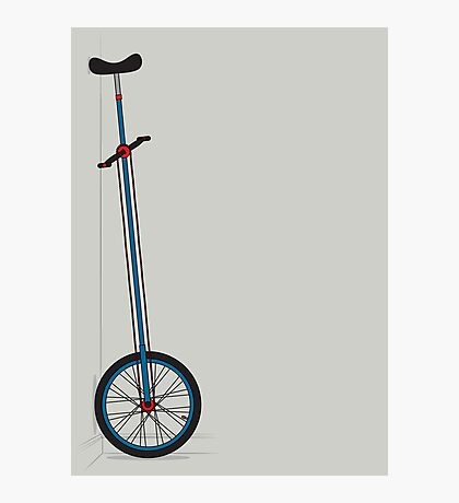 Very Tall Unicycle Photographic Print