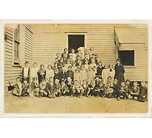THROWBACK: A 1917 One Room Schoolhouse Photographic Print